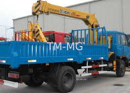 XCMG Truck Loader Crane, 5 Ton Lifting Truck Mounted Crane With High ...