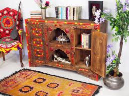 antik look afghan fernseh tv schrank boffet sideboard