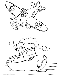 Free Airplane Printables For Kid To Color