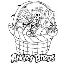 Basket Full Of Angry Birds Daggers Drawn Coloring Pages