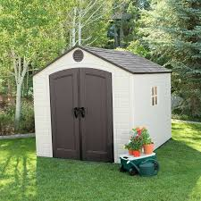 Lifetime Toby 8 ft W x 10 ft D Plastic Storage Shed & Reviews