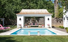 pool float storage Pool Traditional with arched trellis Concrete