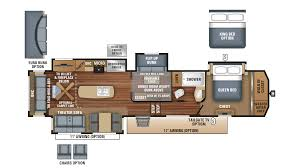 5th Wheel Campers With Bunk Beds by 2018 Jayco North Point 377rlbh Model