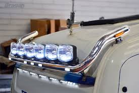 To Fit 13+ DAF XF 106 Space Cab Roof Light Bar + Jumbo Spots X6 + ...