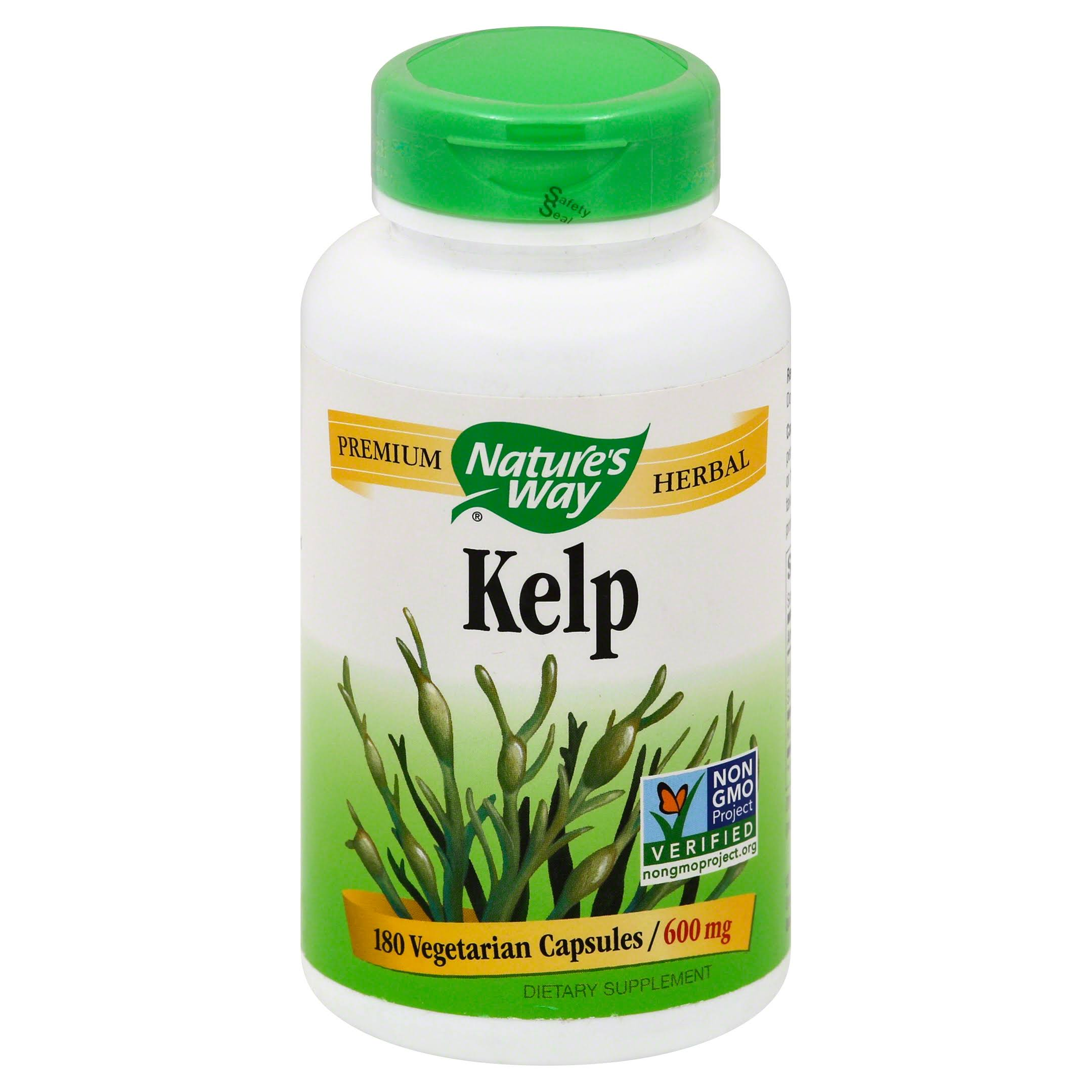 Nature's Way Kelp 600mg Vegetarian Capsules - x180