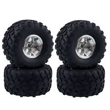 100 Rc Truck Wheels Amazoncom LAFEINA 4PCS 110 RC Monster Wheel And Tire Set
