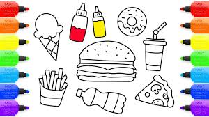 How To Draw Kit Of Fast Food