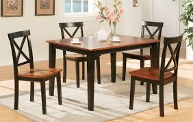 kitchen dining table and chairs set black and brown dining table