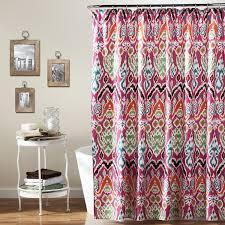 Lush Decor Window Curtains by Amazon Com Lush Decor Jaipur Ikat Shower Curtain 72 X 72