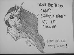 artist mane shaker awesome face cake cakelestia happy birthday lies monochrome pencil drawing princess celestia safe solo