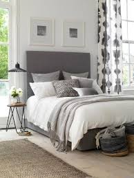 Sunday Morning Style Grey Curtains BedroomWhite