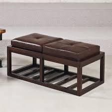 Patio Furniture With Hidden Ottoman by Hammary 090 631 Hidden Treasures Leather Rectangular Ottoman