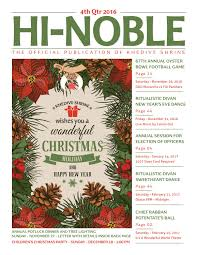 Crab Pot Christmas Trees Davis Nc by Hi Noble 4th Qtr 2016 By Khedive Shriners Issuu