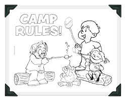 Printable Camp Rules Coloring Sheet