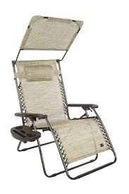 Bliss Hammocks Zero Gravity Chair With Canopy And Side Tray, Sand, 33