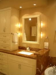 Chandelier Over Bathroom Vanity by Bathroom Over Bathroom Sink Lighting With Interior Lights Also