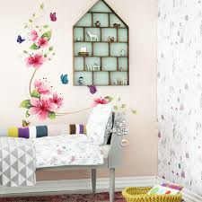 Flower Butterfly Wall Stickers Living Room Decal Bedroom Decor Home Decoration 2570 Cm 5 Pcs Lot Free Shipping