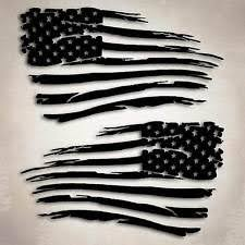 American Flag Distressed Military Decal Sticker Compatible With Jeep Chevy Ford