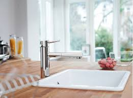 Bar Faucet With Sprayer by Faucet Com 31453001 In Starlight Chrome By Grohe