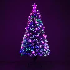 5 Artificial Holiday Fiber Optic LED Light Up Christmas Tree W 8