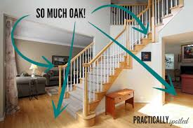 Restaining Wood Floors Without Sanding by How To Gel Stain Ugly Oak Banisters