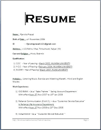 Format Of A Resume Activity Template Professional Activities