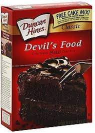 Duncan Hines Moist Deluxe Devil s Food Cake Mix Calories