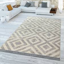 outdoor teppich skandi design rauten muster grau
