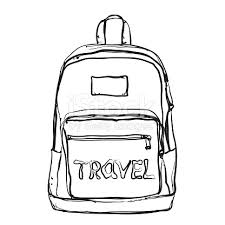 Full Size Of Coloring Pagelovely Drawing Backpack Inside Clipart Open 12 Page