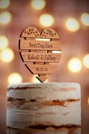 Check Out These Rustic Glam Personalized Cake Topper