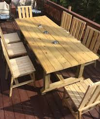 Deck Table And Eight Chairs | Ana White Deck Design Plans And Sources Love Grows Wild 3079 Chair Outdoor Fniture Chairs Amish Merchant Barton Ding Spaces Small Set Modern From 2x4s 2x6s Ana White Woodarchivist Wood Titanic Diy Table Outside Free Build Projects Wikipedia