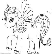Cute Kawaii Animal Coloring Pages Unicorn With Wings