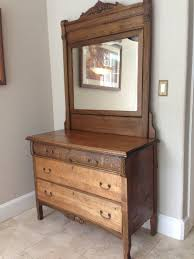 Tiger Oak Dresser With Mirror by Dresser My Antique Furniture Collection
