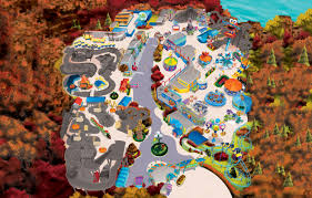 Halloween Attractions In Ocean County Nj by Theme Park U0026 Attractions Map Sesame Place