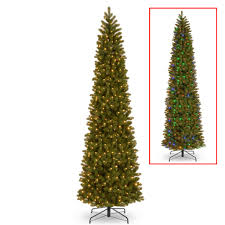 Cheap Pre Lit Pencil Christmas Trees by Get The 12 Ft Pre Lit Feel Real Downswept Douglas Fir Pencil