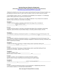 Resume Objective Statement For A Of Your 19 Effective Statements
