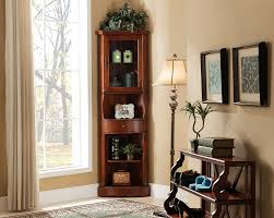 Curved Glass Curio Cabinet by Storage Cabinets Ideas Glass Door Corner Curio Cabinet A Modern