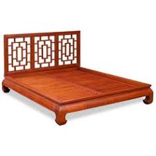 rosewood cherry blossom design king size platform bed w drawers