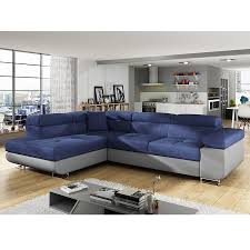 canape d angle bleu canape angle convertible bleu en tissu sofamobili
