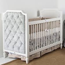 Bedroom Charming Baby Cache Cribs With Curtain Panels And by Beverly Crib With Versailles Silver Tufted Panels From Poshtots