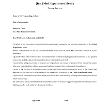 Cover Letter For Manuscript Submission To Journal Sample The Hakkinen
