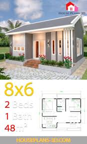 100 Www.homedesigns.com House Design Plans 8x6 With 2 Bedrooms In 2019 House Plans