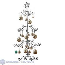 Unique Metal Scroll Christmas Ornament Display Tree