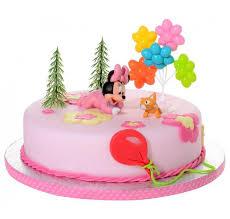 décor minnie bébé en plastique pour gâteau d enfant et baby shower