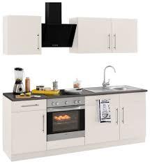 wiho küchen küchenzeile cali mit e geräten breite 220 cm mit metallgriffen kaufen otto