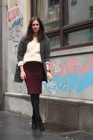 Pencil Skirt And Fluffy Sweater