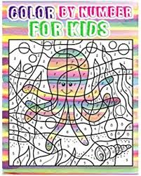 Color By Number For Kids Animals Coloring Book Ages 4 8