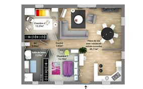plan de maison 2 chambres plan 3d maison 2 chambre plan maison