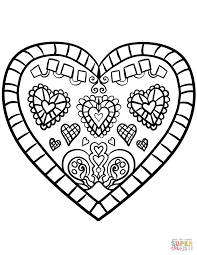Adult Heart Coloring Pages Printable Pictures Decorated Anatomy