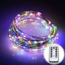 waterproof 8 modes silver wire battery operated 20m 200 leds led